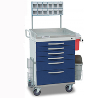Detecto Whisper Anesthesiology Medical Carts-Blue