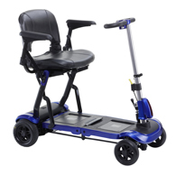 Drive FLEX ZooMe Ultra Compact Folding Travel 4 Wheel Scooter-Blue