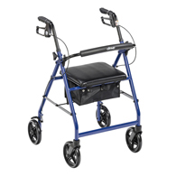 Drive Medical Aluminum Rollator w/ Fold Up & Removable Back Support