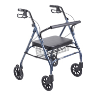 Drive Heavy Duty Bariatric Walker Rollator with Large Padded Seat
