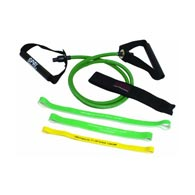SPRI 05-58638 (ES510R) Green Xertube 3 Xercise Bands w/ door attach