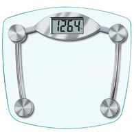 Taylor 7506 Chrome & Glass Lithium Scale-400 lbs/180 kg Capacity